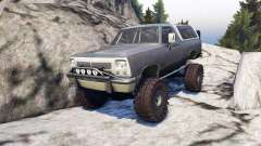 Dodge Ramcharger II 1991 grey and white para Spin Tires