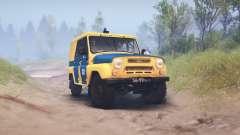 UAZ-B da polícia da URSS para Spin Tires
