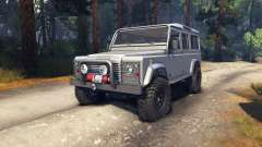 Land Rover Defender 110 silver para Spin Tires