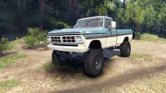 Ford F-200 1968 blue and white para Spin Tires