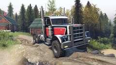 Peterbilt 379 v1.1 red black para Spin Tires