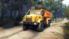 KrAZ-6322 v3.0 amarelo para Spin Tires
