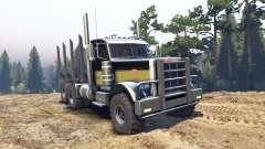 Peterbilt 379 black and green para Spin Tires