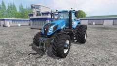 New Holland T8.320 with twin dynamic rear wheels para Farming Simulator 2015