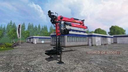 O guindaste hidráulico Palfinger Epsilon M80F para Farming Simulator 2015