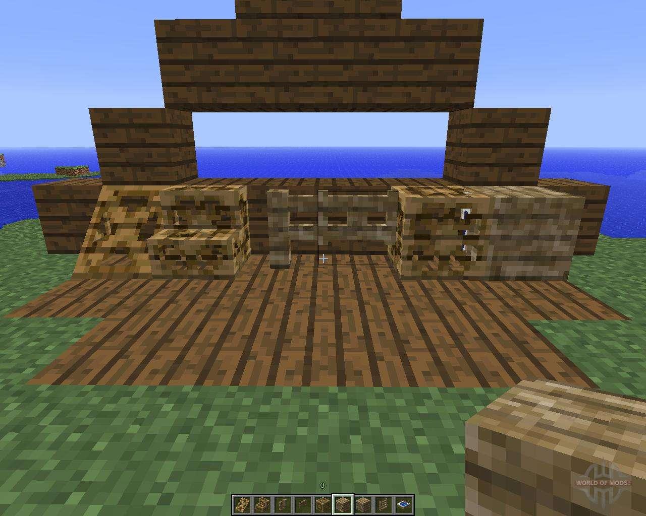 carpenters blocks 1 5 2 para minecraft. Black Bedroom Furniture Sets. Home Design Ideas