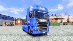 Pele V8 Topline na unidade de tracionamento Scania para Euro Truck Simulator 2