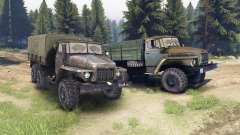 Ural-375 e 4320-01 para Spin Tires
