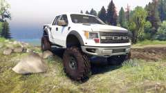 Ford Raptor SVT v1.2 factory white para Spin Tires