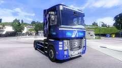 Pele Sonho Azul na unidade de tracionamento Renault Magnum para Euro Truck Simulator 2