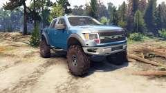 Ford Raptor SVT v1.2 factory blue flame para Spin Tires