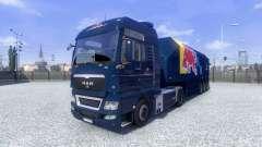 Pele Red Bull Racing Hochglanz no caminhão HOMEM para Euro Truck Simulator 2