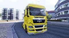 Pele Transformadores no caminhão HOMEM para Euro Truck Simulator 2