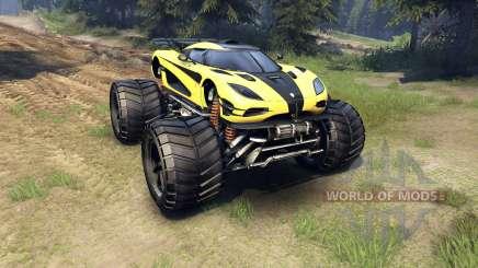 Koenigsegg One:1 Monster para Spin Tires