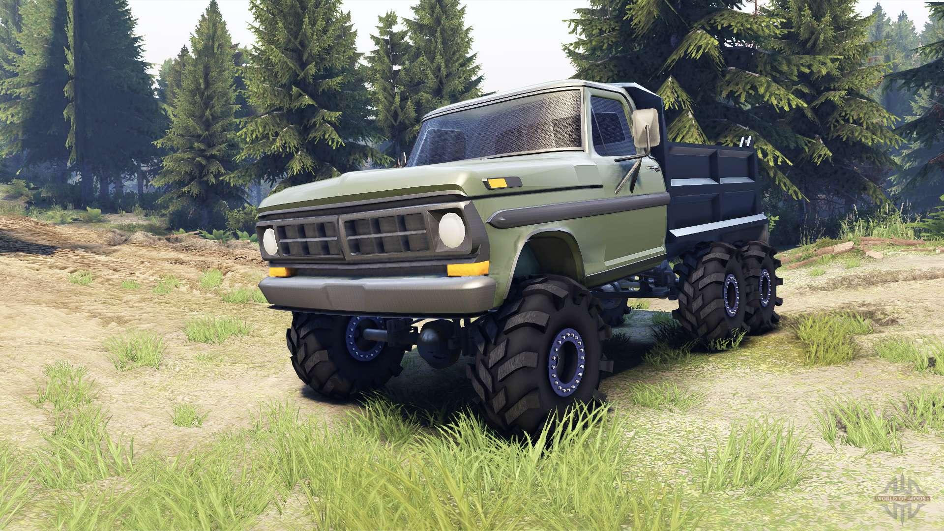 Ford F 100 6x6 V2 0 Para Spin Tires