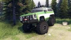 Chevrolet K5 Blazer 1975 6x6 green and white para Spin Tires