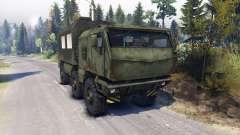 KAMAZ Tufão caminhão 6x6 para Spin Tires