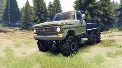 Ford F-100 6x6 v2.0 para Spin Tires