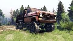 Ford F-100 6x6 v1.1 rusty para Spin Tires