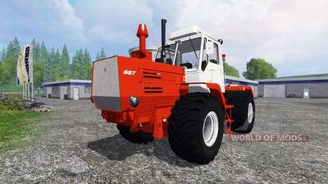 T-150K vermelho para Farming Simulator 2015