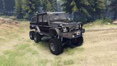 Mercedes-Benz G65 AMG 6x6 Final brilliant black para Spin Tires
