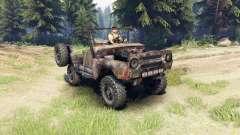 UAZ-469 enferrujado para Spin Tires