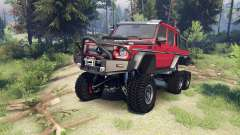 Mercedes-Benz G65 AMG 6x6 Final lemans red para Spin Tires