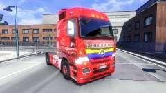 A pele de Santa Fe, da Colômbia sobre o trator Majestoso para Euro Truck Simulator 2
