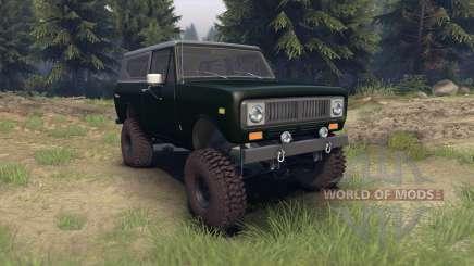 International Scout II 1977 dark green poly para Spin Tires