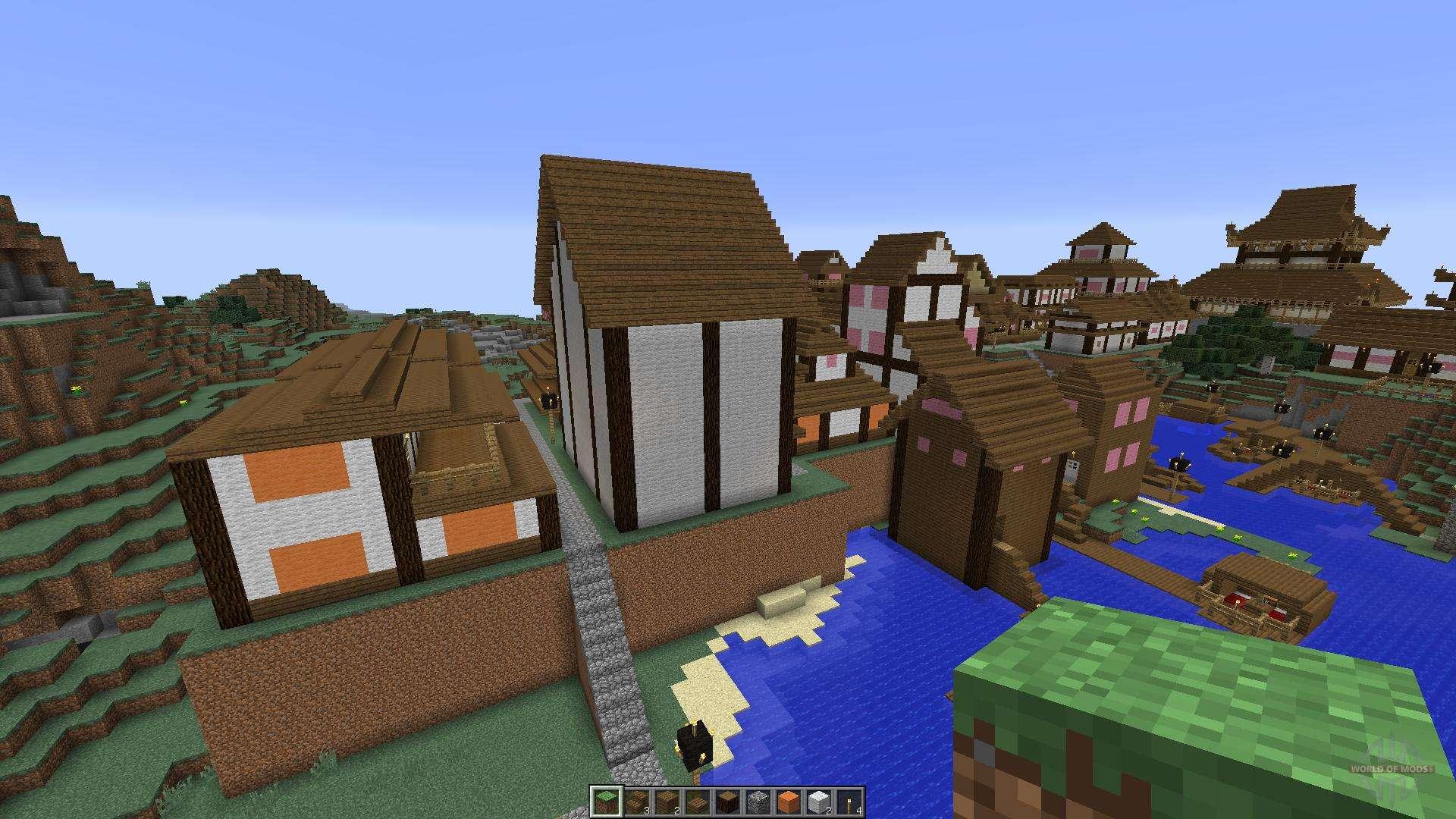 Beau Japanese Village Para Minecraft