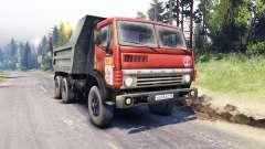 KamAZ-5511 branco lattice para Spin Tires