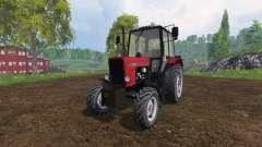MTZ-82.1 Bielorrússia v2.0 vermelho para Farming Simulator 2015