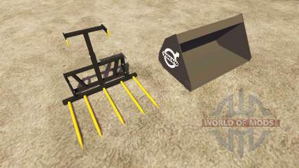 Balde de garfos e Volvo para Farming Simulator 2013