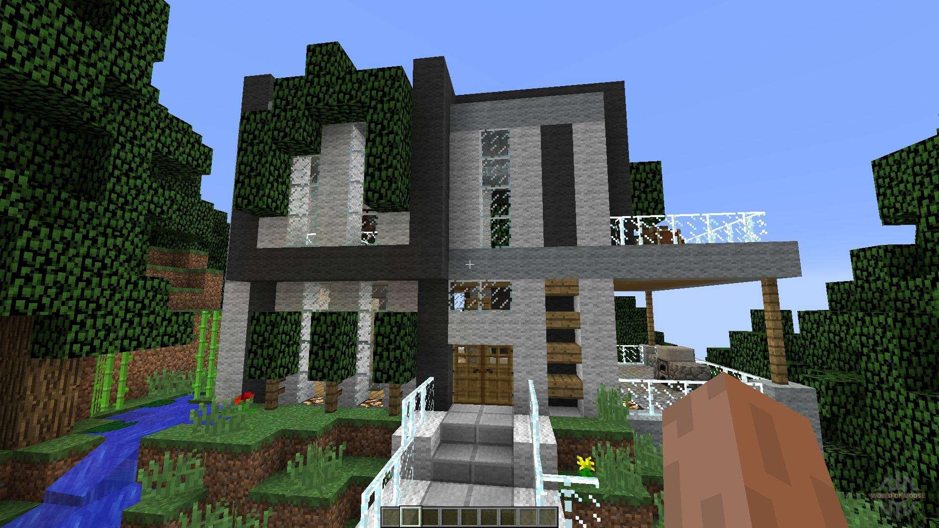 Modern Cliffside House para Minecraft