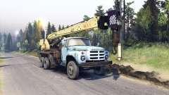 ZIL-133 caminhão guindaste GA para Spin Tires
