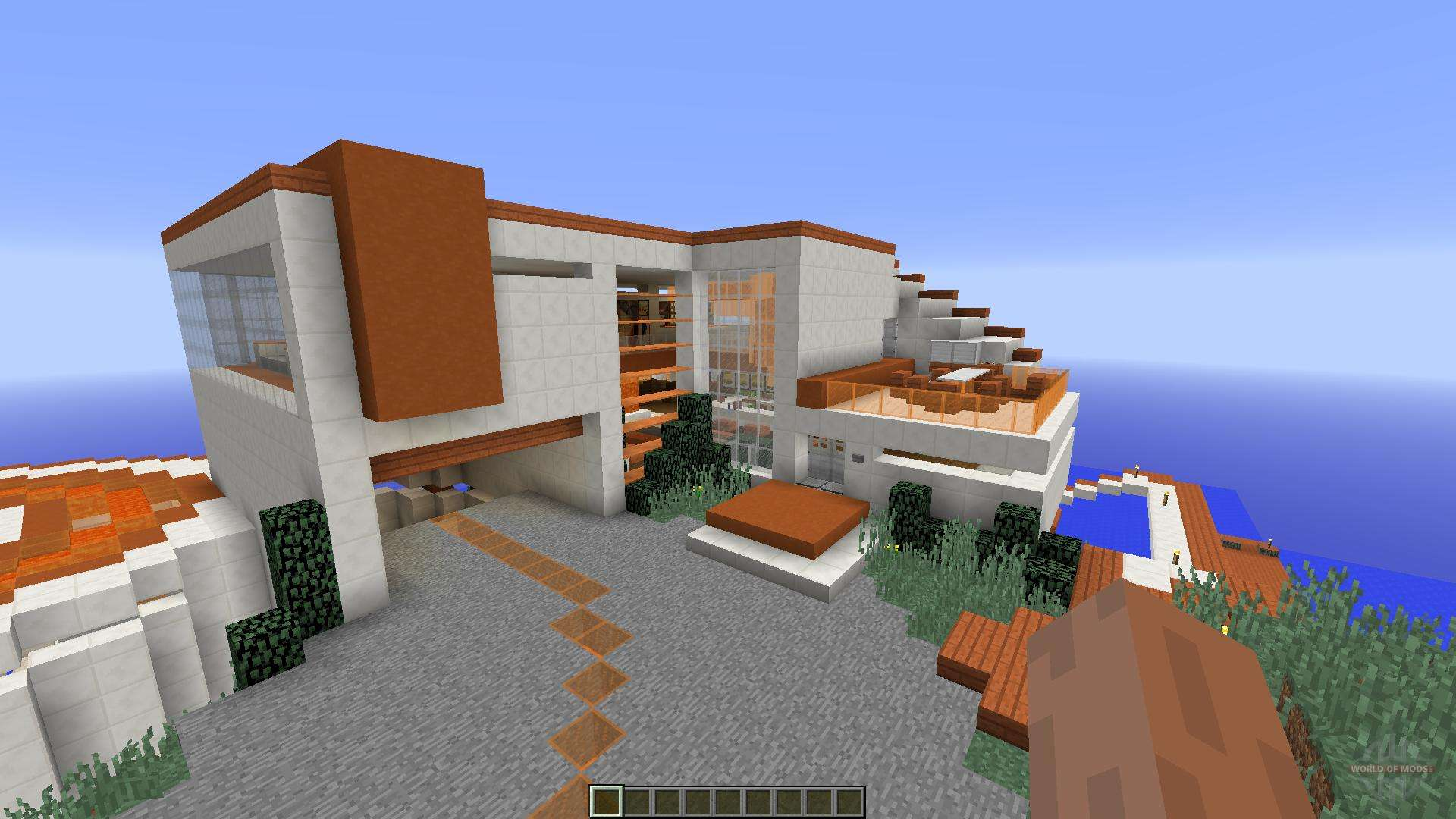 Modern Tony Stark Based Cliff-side Mansion para Minecraft