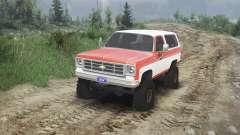 Chevrolet K5 Blazer 1975 [orange and white] para Spin Tires