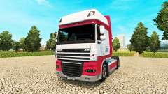 Kitty Logistik pele para caminhões DAF para Euro Truck Simulator 2
