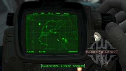 Immersive Map 4k - BLUEPRINT Inv. - Big Squares para Fallout 4