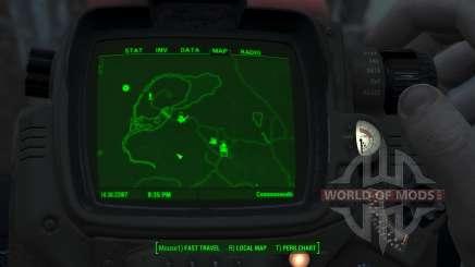 Immersive Map 4k - BLUEPRINT Inv. - No Squares para Fallout 4