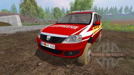 Dacia Logan [feuerwehr] para Farming Simulator 2015