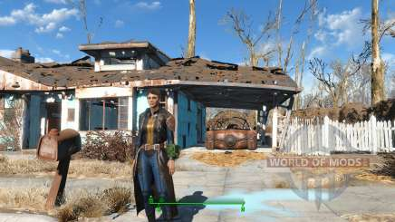 The Bad-Ass Vault Dweller Long Coat para Fallout 4