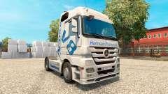 Hartmann Transporte de pele para o caminhão Mercedes-Benz para Euro Truck Simulator 2