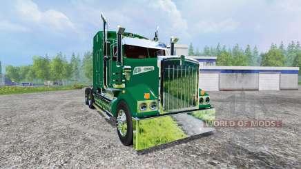 Kenworth T908 [John Deere trailer] v2.0 para Farming Simulator 2015