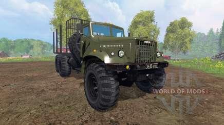 KrAZ-255 B1 [madeira] v2.0 para Farming Simulator 2015