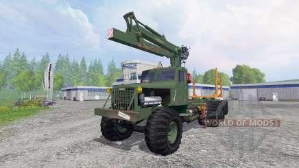 KrAZ-255 B1 [madeira] v2.5 para Farming Simulator 2015