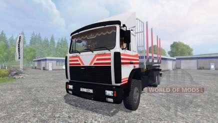 MAZ-6303 [madeira] v4.0 para Farming Simulator 2015