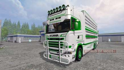 Scania R730 [cattle] para Farming Simulator 2015