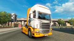 Mezzo Mistura de pele para o Scania truck para Euro Truck Simulator 2