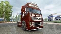 Pele FC St. Pauli em um caminhão Volvo para Euro Truck Simulator 2